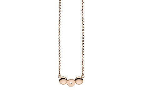 Qudo INTERCHANGEABLE Necklace ORRIZONTALE / Rose gold Plated