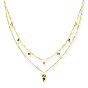 "THOMAS SABO ""NECKLACE COLOURFUL STONES""GOLD"