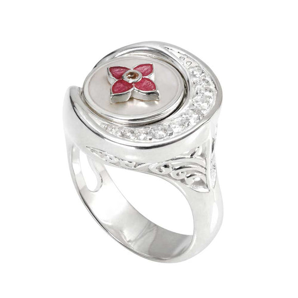 Kameleon Side Scoop CZ Ring