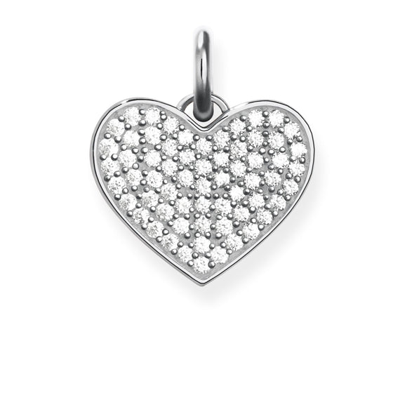 THOMAS SABO HEART PENDANT CLEAR CZ