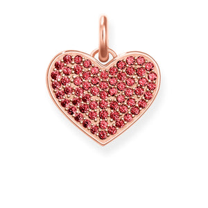 "THOMAS SABO HEART PENDANT RED CZ ""HEART PAVÉ"""