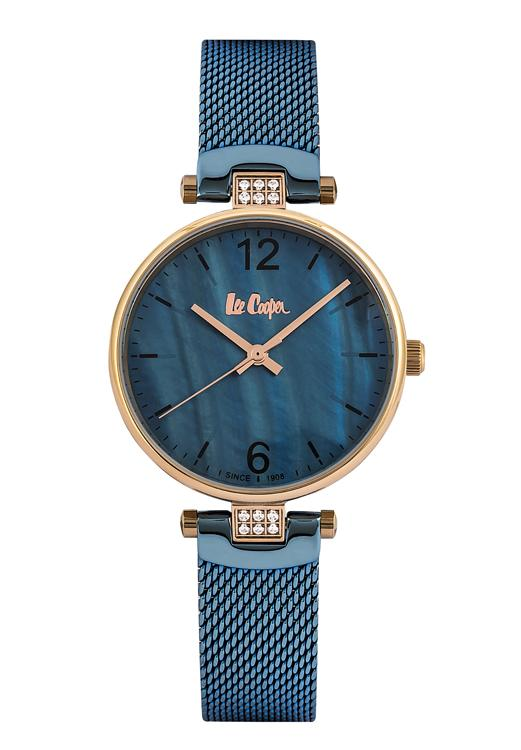 LEE COOPER - STAINLESS STEEL, PLATED ROSE GOLD AND BLEU MECHE, SMALL CASE