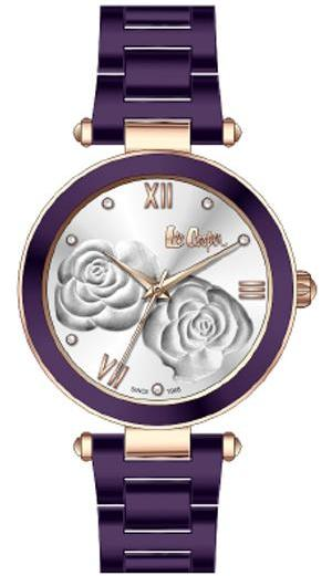 LEE COOPER - STAINLESS STEEL, PLATED ROSE GOLD AND PURPLE, SMALL CASE