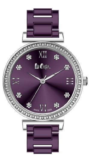 LEE COOPER -STAINLESS STEEL, PLATED PURPLE, SMALL CASE