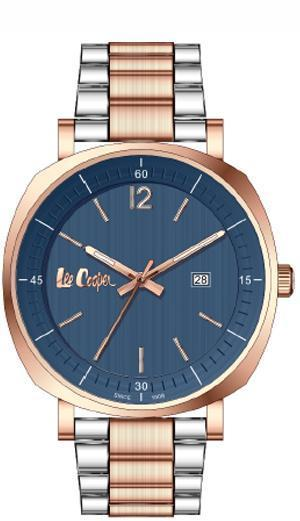 LEE COOPER -STAINLESS STEEL, PLATED ROSE GOLD, DARK BLEU