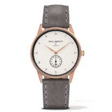 PAUL HEWITT SIGNATURE WHITE OCEAN ROSE GOLD GRAY LEATHER WATCH