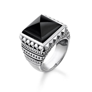 "THOMAS SABO RING REBEL AT HEART ""ETHNIC SKULLS BLACK"""