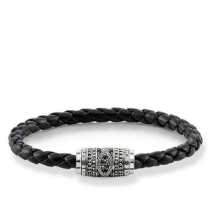 "THOMAS SABO RING REBEL AT HEART BRACELET LEATHER STRAP ""LOVE KNOT"""