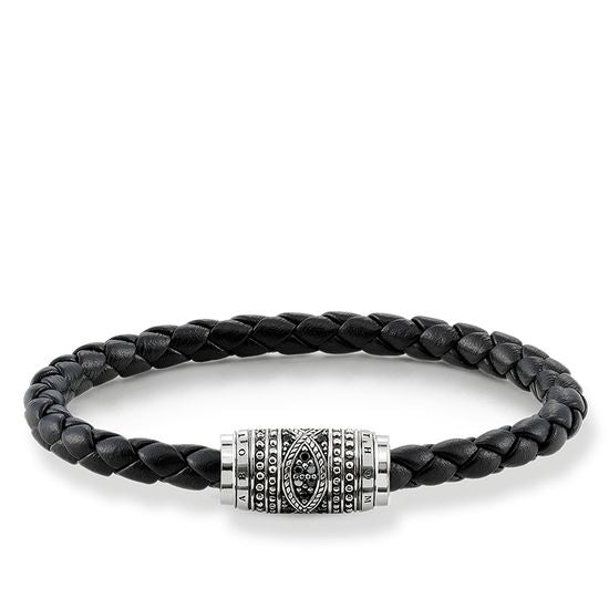 THOMAS SABO RING REBEL AT HEART BRACELET LEATHER STRAP