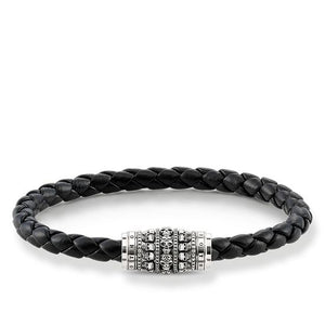 "THOMAS SABO RING REBEL AT HEART BRACELET LEATHER STRAP ""SKULLS"""