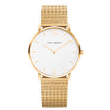 Paul Hewitt White Sand Watch IP Gold Mesh Strap IP Gold