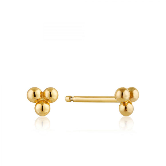ANIA HAIE MODERN TRIPLE BALL STUD EARRINGS