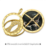 MI MONEDA PENDANT 925 SILVER GOLD PLATED