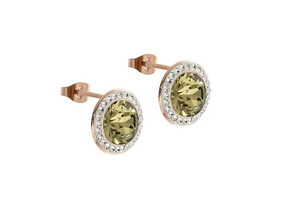 Qudo INTERCHANGEABLE Earring TONDO Deluxe / Rose Gold plated
