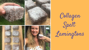 Collagen Spelt Lamingtons (the journey to..)