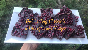 Gut-healing Chocolate & Pomegranate Healthy Fudge
