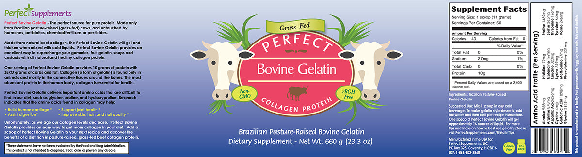Perfect Supplements Australia Bovine Gelatin