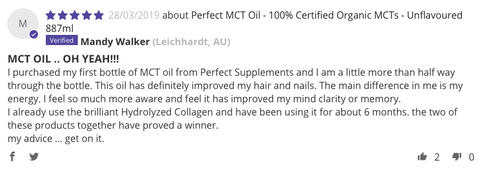 Perfect MCT oil review Perfect Supplements Australia