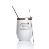 PSA Stainless Steel Thermal Drink Tumbler 400ml with Metal Straw
