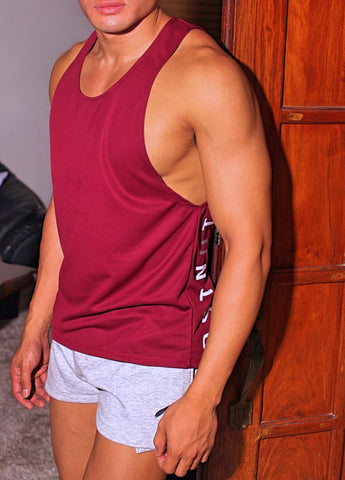 Maroon Low Cut Tank Top II