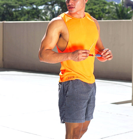 Orange Dri-Fit Low Cut Tank II