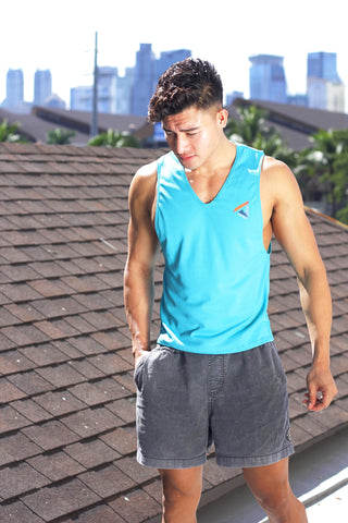 Turquoise Dri-Fit Low Cut Tank III