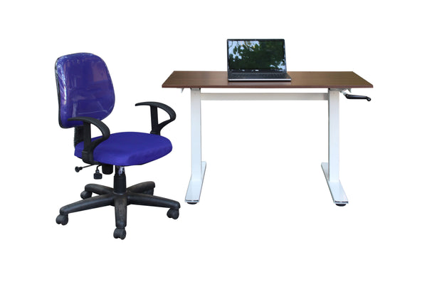 Manual Height Adjustable Table - Double Stand - Kuffalo Height Adjustable Desk