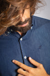 Camisa Denim Navy