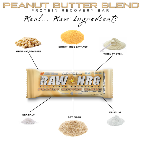 RAW NRG Peanut Butter - Protein Nutrition bar