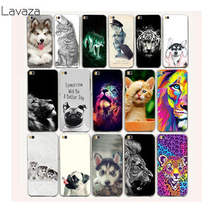 Cute Dog pug and Tiger, Lion Hard Case Cover