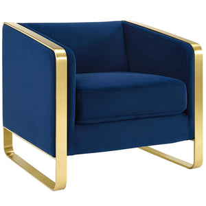 Imperial Accent Chair In Navy Blue