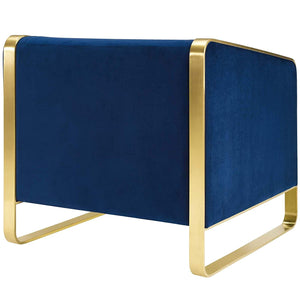 Imperial Accent Chair In Navy Blue - Mod Designs