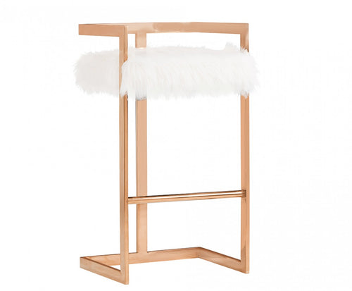 The Carters Bar Stool In Rose Gold