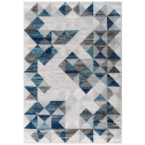 Lynx Blue Modern Area Rug in 2 Sizes - Mod Designs