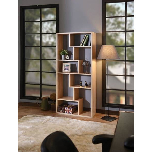 Metrix Modern Bookshelf in Light Walnut - Mod Designs