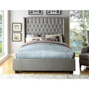 Ariana Platform Bed In Silver - Mod Designs