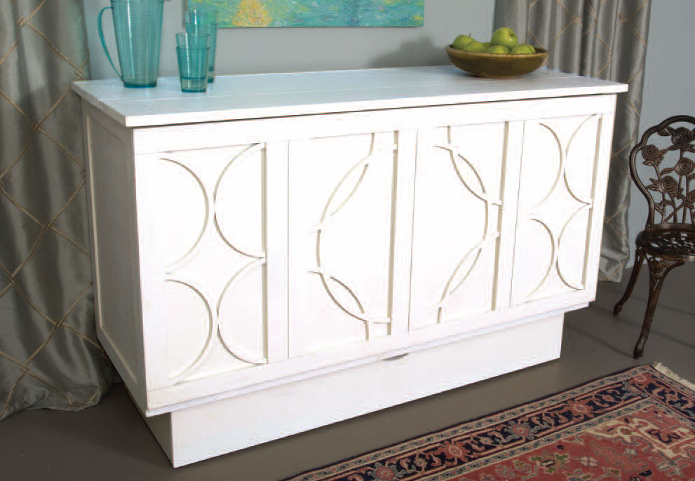 Brussells Credenzzz Modern Cabinet Bed in White - Mod Designs