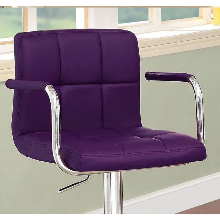 Eva Adjustable Barstool in Purple - Mod Designs