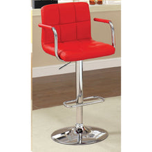 Eva Adjustable Barstool in Red