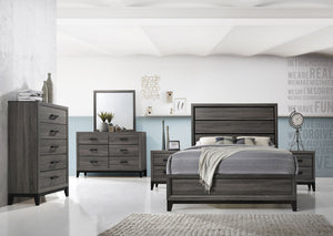Alexander Platform Bed In Foil Grey Elm - Mod Designs