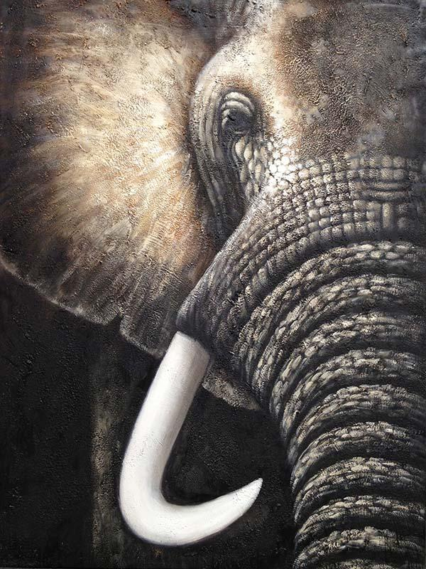 Elephant in the Room Canvas Art