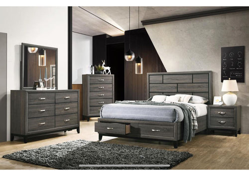 Hazel Modern Bedroom Set In Foil Grey Elm - Mod Designs
