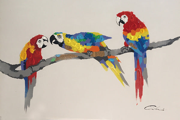 3 Little Birds Canvas Art - Mod Designs