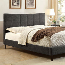 Luna Platform Bed In Gray Linen