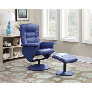 Magnus Recliner & Ottoman in Royal Blue - Mod Designs