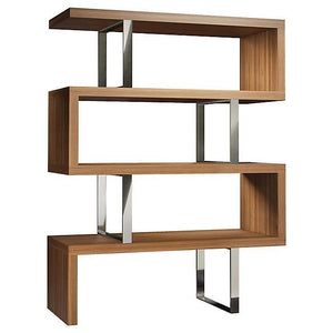 Milan Modern Bookshelf In Walnut - Mod Designs