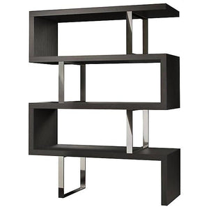 Milan Modern Bookshelf In Grey Matte