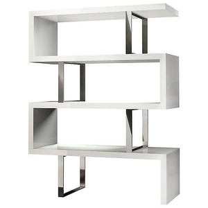 Milan Modern Bookshelf In White