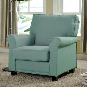 Mabel Plush  Accent Chair In Baby Blue