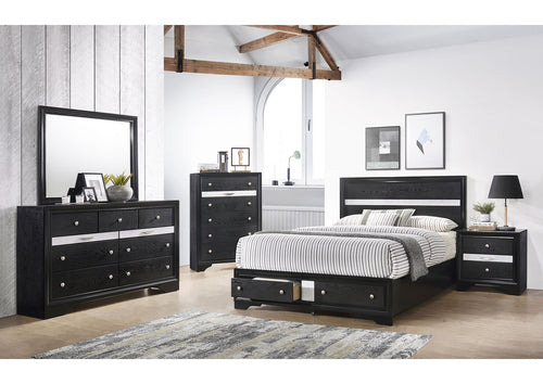 Monterrey Modern Bedroom Set In Foil Grey Elm - Mod Designs